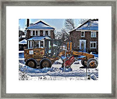 Neighbourhood Snowplough Framed Print