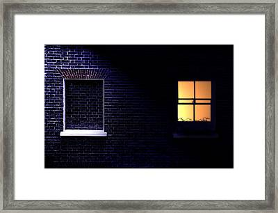 Framed Print featuring the photograph Neighbours by Richard Piper