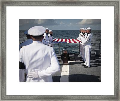Neil Armstrong's Burial At Sea, 2012 Framed Print by Science Photo Library