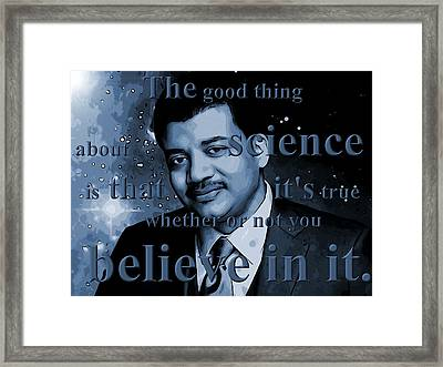 Neil Degrasse Tyson Framed Print by Dan Sproul