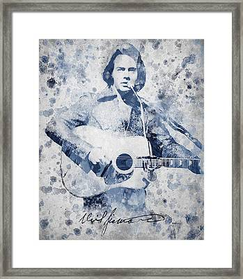 Neil Diamond Portrait Framed Print by Aged Pixel
