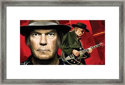 Neil Young Artwork Framed Print