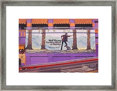 Neil Young Billboard Framed Print by Frank Bez