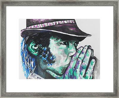 Neil Young Framed Print by Chrisann Ellis