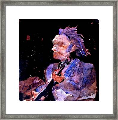 Neil Young Framed Print by Sandra Stone