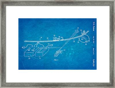Neil Young Train Control Patent Art 1995 Blueprint Framed Print by Ian Monk
