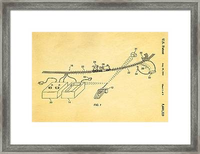 Neil Young Train Control Patent Art 1995 Framed Print by Ian Monk