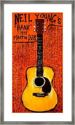 Neil Youngs Hank Martin Guitar Framed Print by Karl Haglund