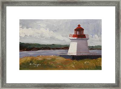 Neil's Harbor Framed Print