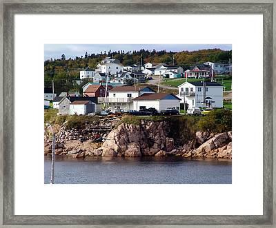 Neil's Harbour Framed Print by Janet Ashworth