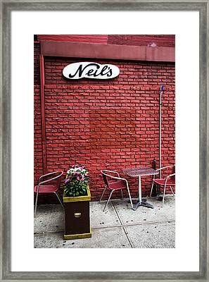Neils Framed Print by Karol Livote