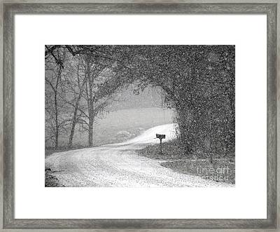 Neither Rain Nor Snow.. Framed Print