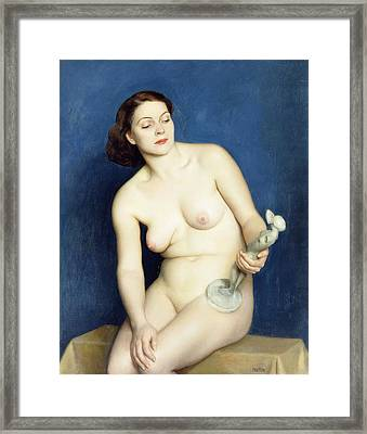 Nellie And Phryne Framed Print by William McGregor Paxton