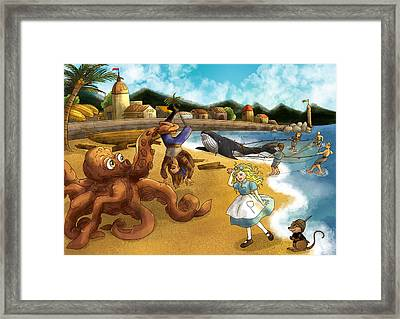 Nellie The Octopus Framed Print