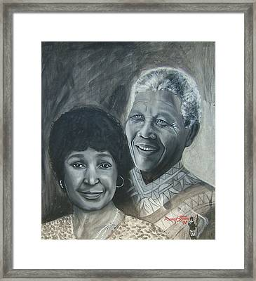 Nelson And Winnie Framed Print by Howard Stroman