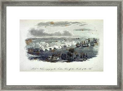 Nelson At Toulon Framed Print by British Library