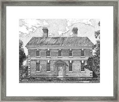 Nelson House In Yorktown Virginia II Of IIi Framed Print by Stephany Elsworth