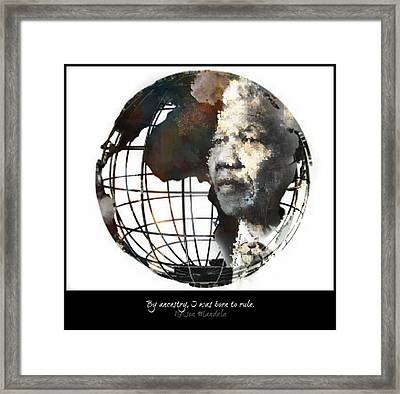 Nelson Mandela - Born To Rule Quote Framed Print