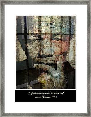 Nelson Mandela - Difficulties Framed Print