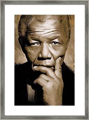 Nelson Mandela Artwork Framed Print