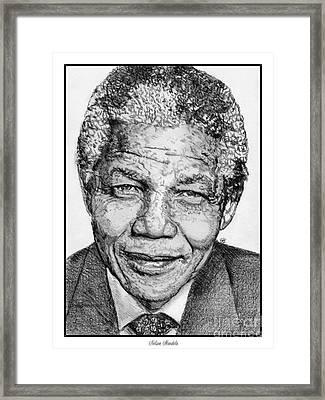 Nelson Mandela Framed Print by J McCombie