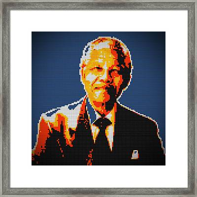 Nelson Mandela Lego Pop Art Framed Print