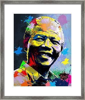 Nelson Mandela Madiba Framed Print