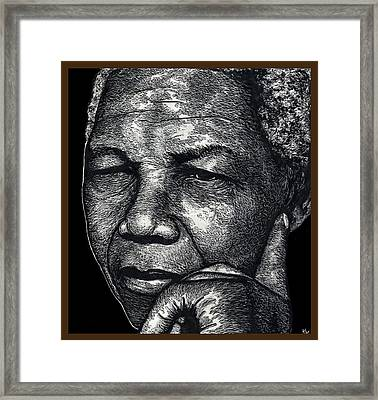 Nelson Mandela Portrait Framed Print