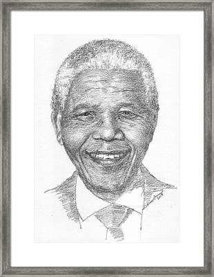 Nelson Mandela Framed Print by Salman Ameer