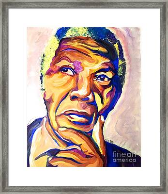 Nelson Mandela Thoughts Framed Print by LLaura Burge