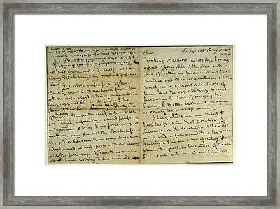 Nelson Memorandum Framed Print by British Library