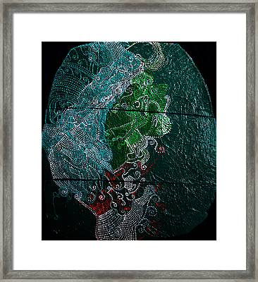 Framed Print featuring the painting Nemesis by Gloria Ssali