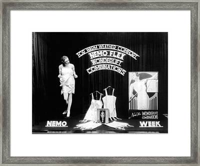 Nemoflex Wonderlift Garments Framed Print by Underwood Archives