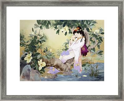 Nemuri No Otome Framed Print by Haruyo Morita