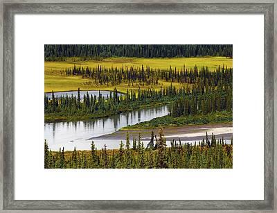 Nenana River In Autumn, Denali Highway Framed Print