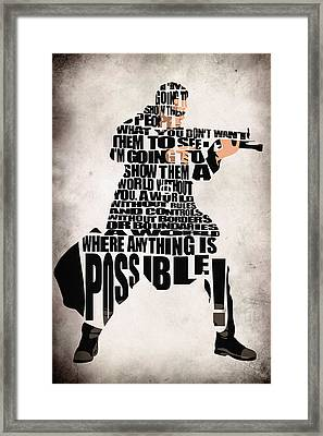 Neo- The Matrix Framed Print