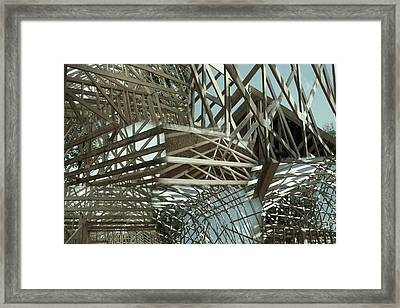 Neoangle Sticks Framed Print