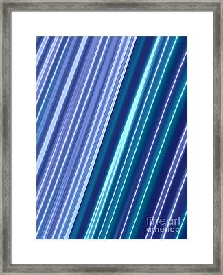 Neon Abstract Framed Print
