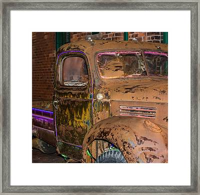 Neon And Rust Framed Print