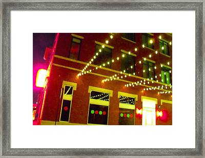 Neon And Strings Of Lights  Framed Print by ARTography by Pamela Smale Williams