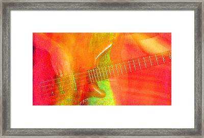 Neon Bass Fusion Framed Print by James Hammen