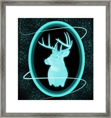 Neon Buck Framed Print