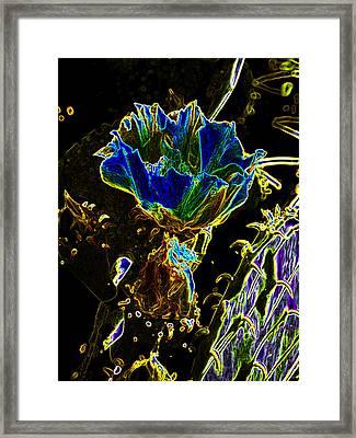Neon Cactus Framed Print