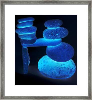 Neon Calming Of Nerves Framed Print