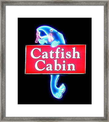 Neon Catfish Cabin  Framed Print by Mark Moore