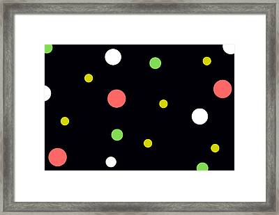Neon Circles Framed Print by Chastity Hoff