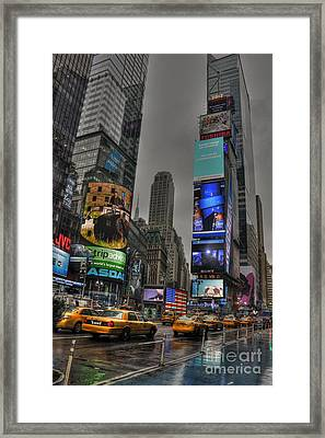 Neon City Framed Print by David Bearden