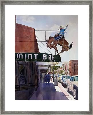 Neon Cowboy Framed Print by Kris Parins