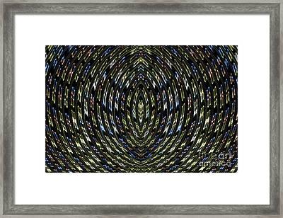 Neon Curves Framed Print