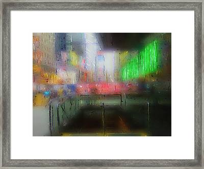 Neon Expressions Framed Print by Steve K